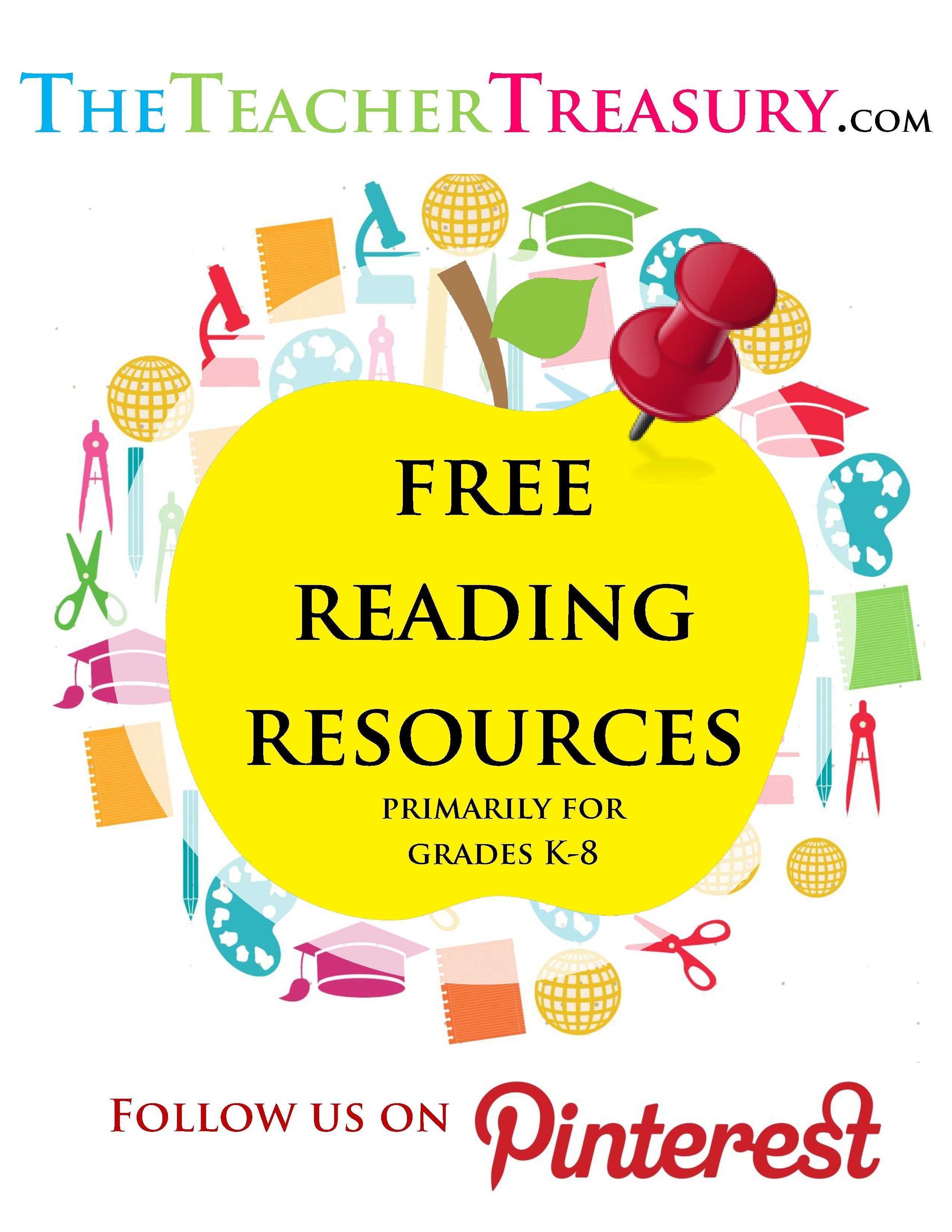 Free Reading Resources Primarily For Grades K 8