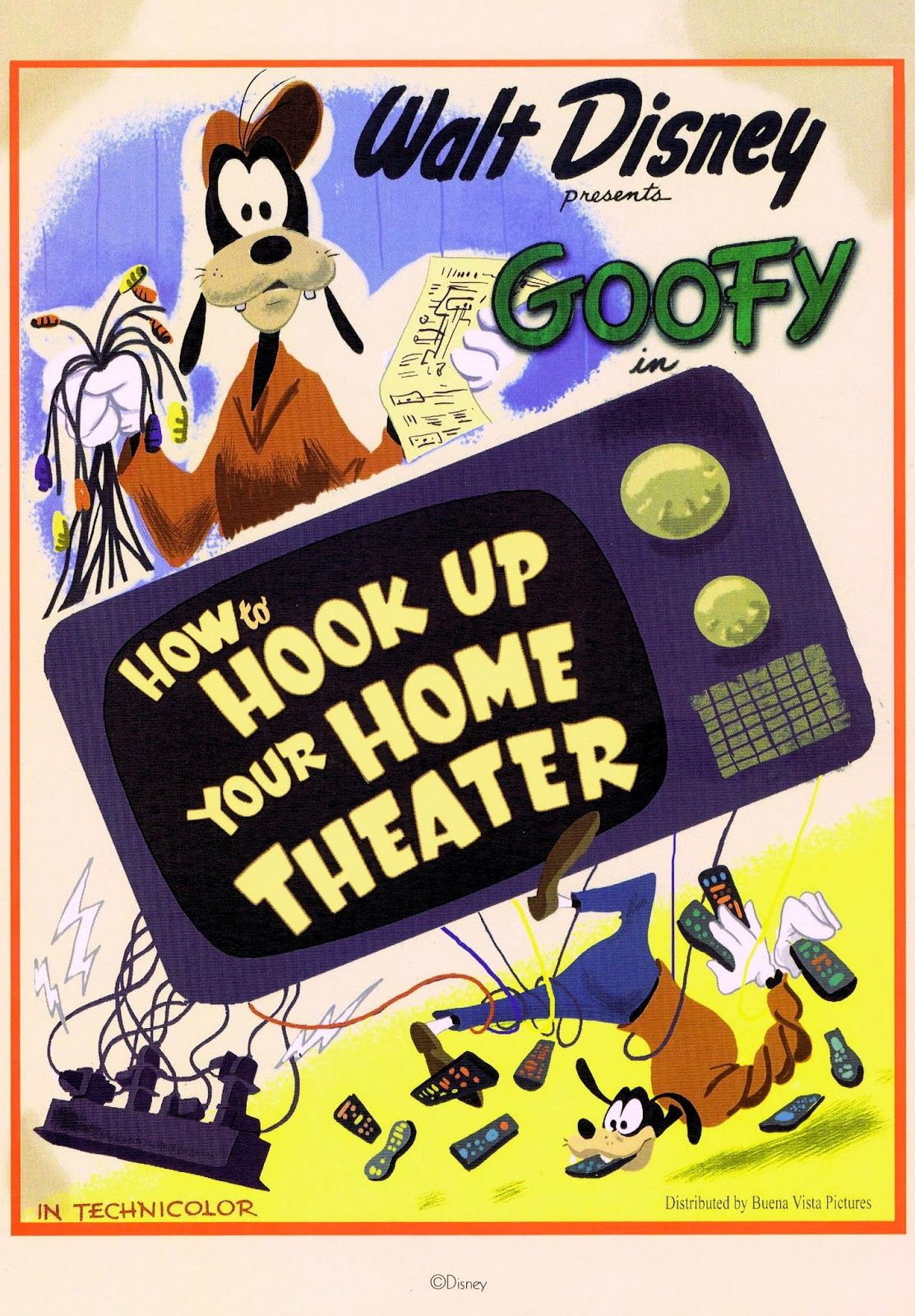 goofy in how to hook up your home theater | disney, where dreams