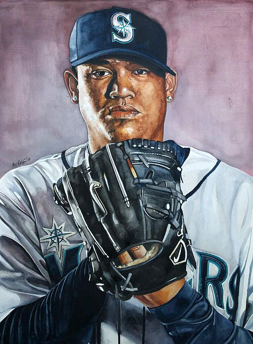 f036bdd7cf King Felix Hernandez watercolor painting #baseball #seattlemariners  #felixhernandez