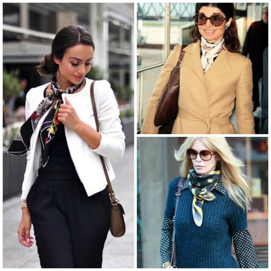 How to Wear Silk Scarfs to the Office How to wear
