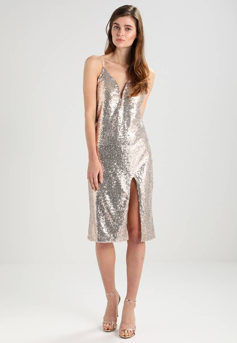 WAL G.. V-NECK MIDI SEQUIN - Cocktailkleid/festliches Kleid - gold ...