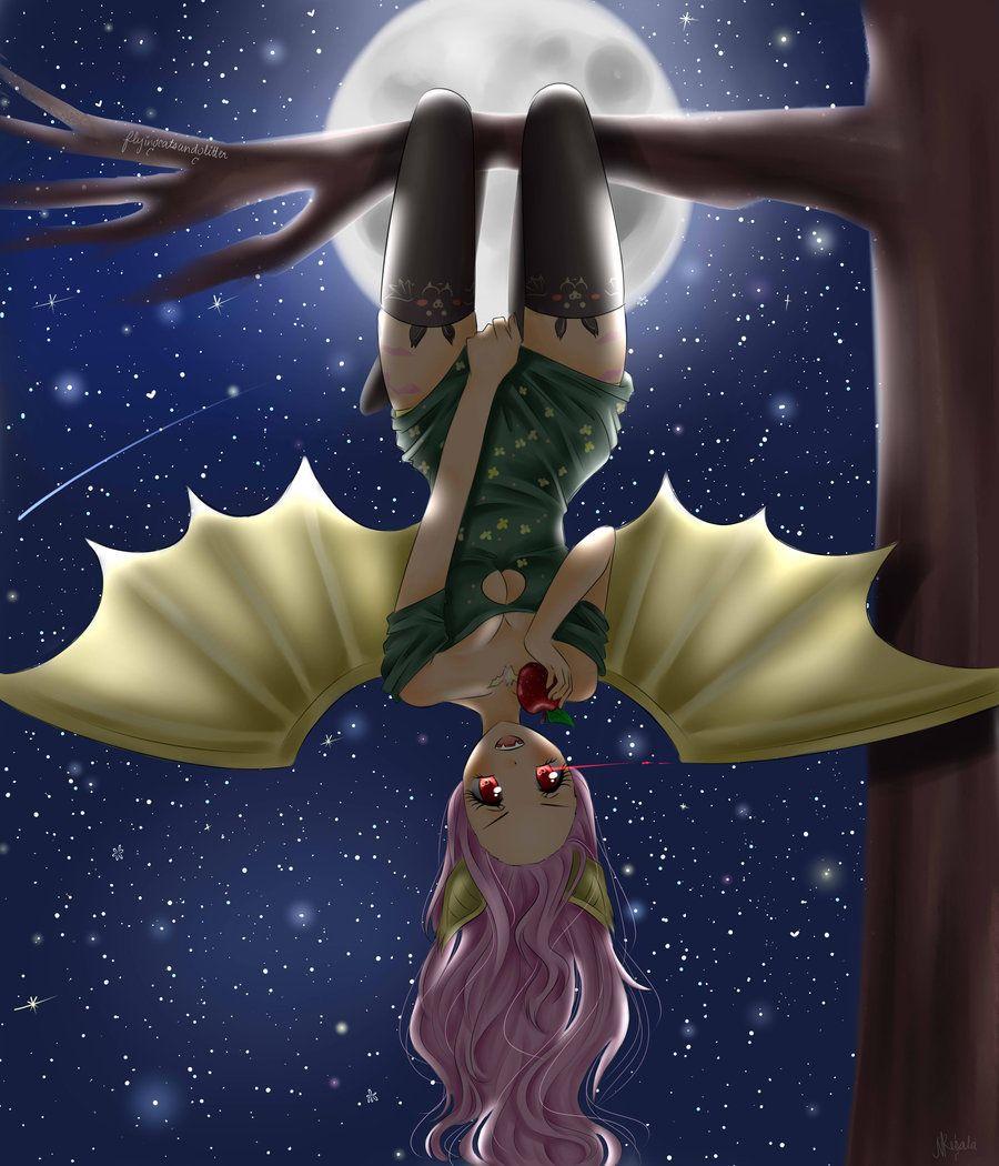 Flutterbat Gijinka By Flyingcatsandglitter On Deviantart My Little Pony Characters Mlp My Little Pony My Little Pony Friendship