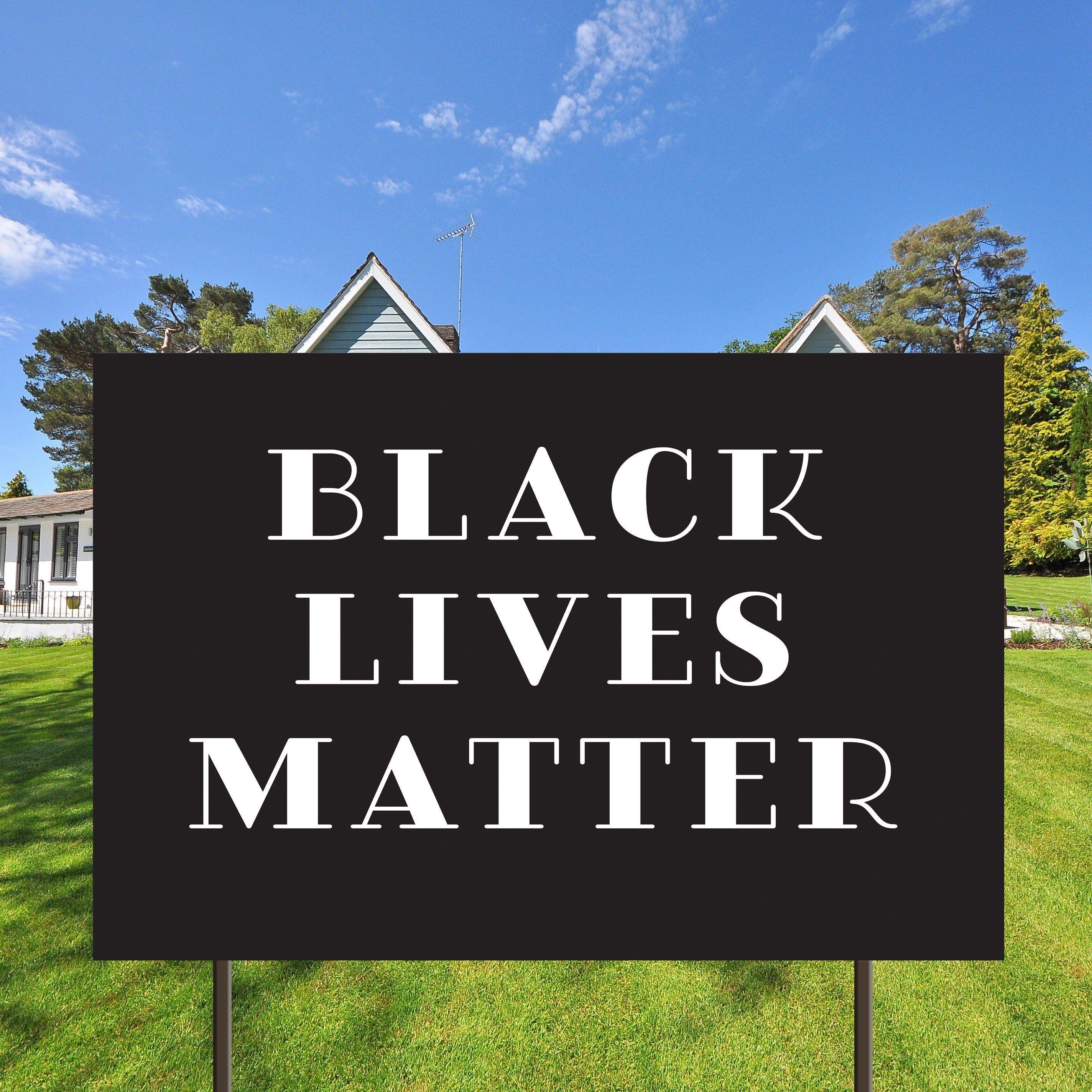 Black Lives Matter Sign Yard Sign Stand Up Minorities Matter Yard Sign Digital File Only Black Rights Social Justice Black Lives Matter Lives Matter Life