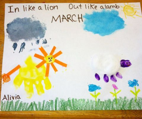March Craft Idea In Like A Lion Out Like A Lamb Handprint Craft