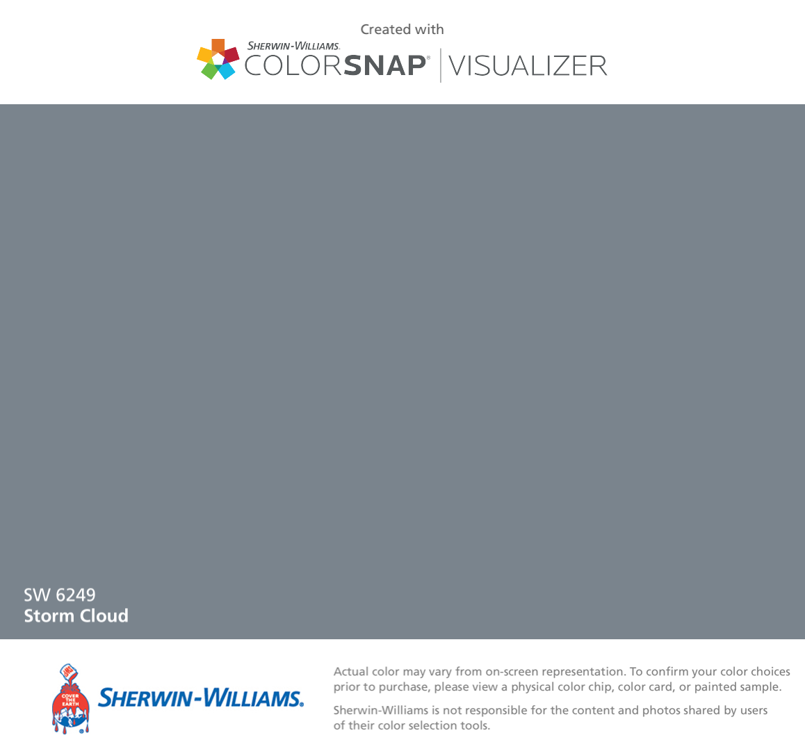 Sherwin williams paint colors sherwin williams 6249 storm cloud - I Found This Color With Colorsnap Visualizer For Iphone By Sherwin Williams Storm Cloud Sw