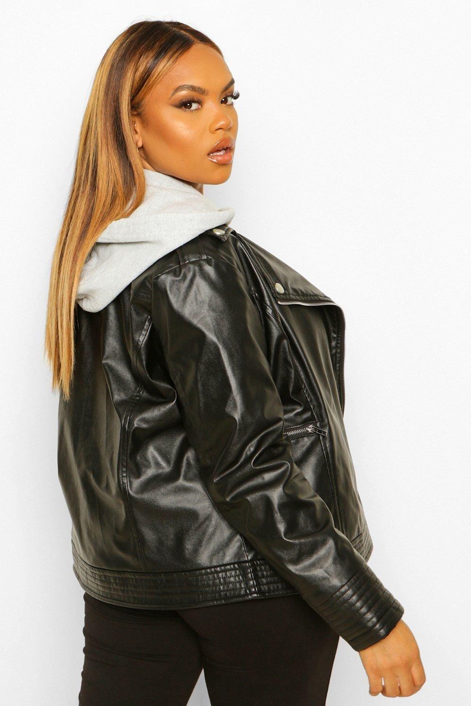 Plus Faux Leather Jacket Boohoo Black Faux Leather Jacket Faux Leather Jackets Leather Jacket [ 1500 x 1000 Pixel ]