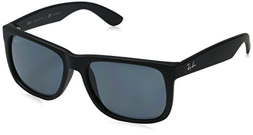 20dee0fb1a0 RayBan JUSTIN BLACK RUBBER Frame DARK BLUE POLAR Lenses 55mm Polarized     Details can be found by clicking on the image.Note It is affiliate link to  Amazon.