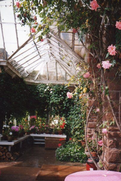 This was the greenhouse or orangery at the big house near Crossmichael in Scotland.