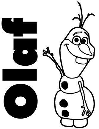 Frozen OLAF Snowman Black  Car Truck VINYL Decal Art Wall Sticker - Disney custom vinyl decals for car