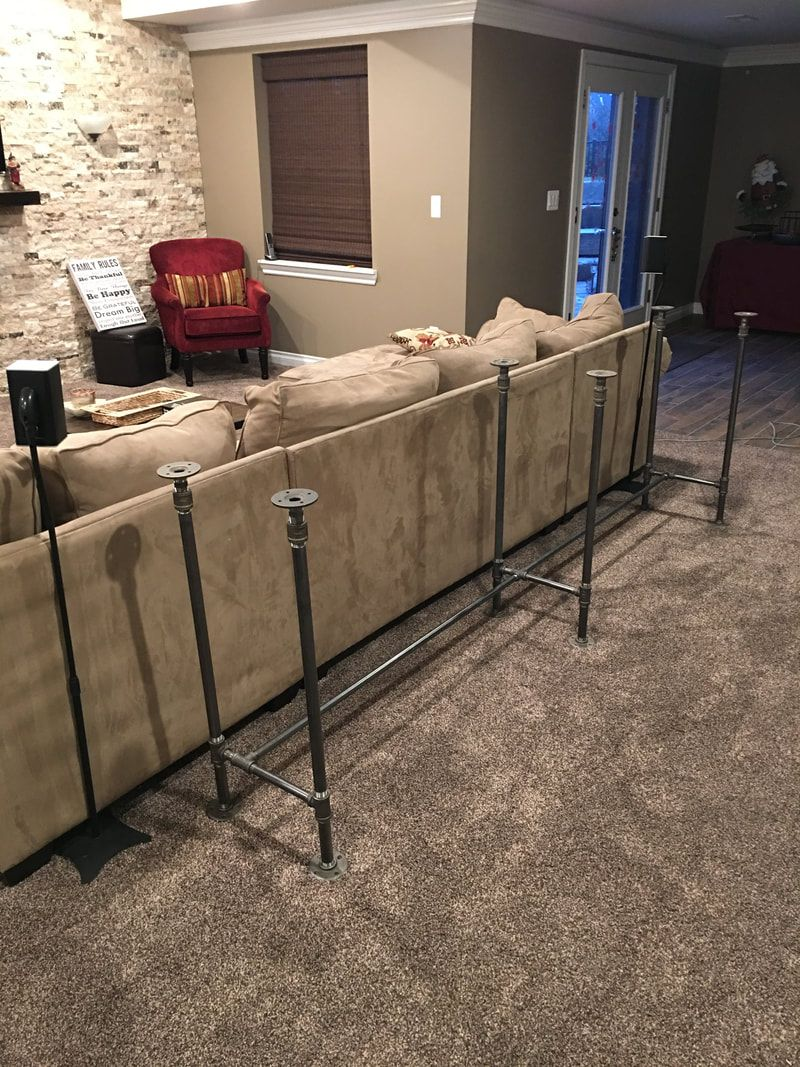 DIY Industrial Pipe Sofa Table Budget