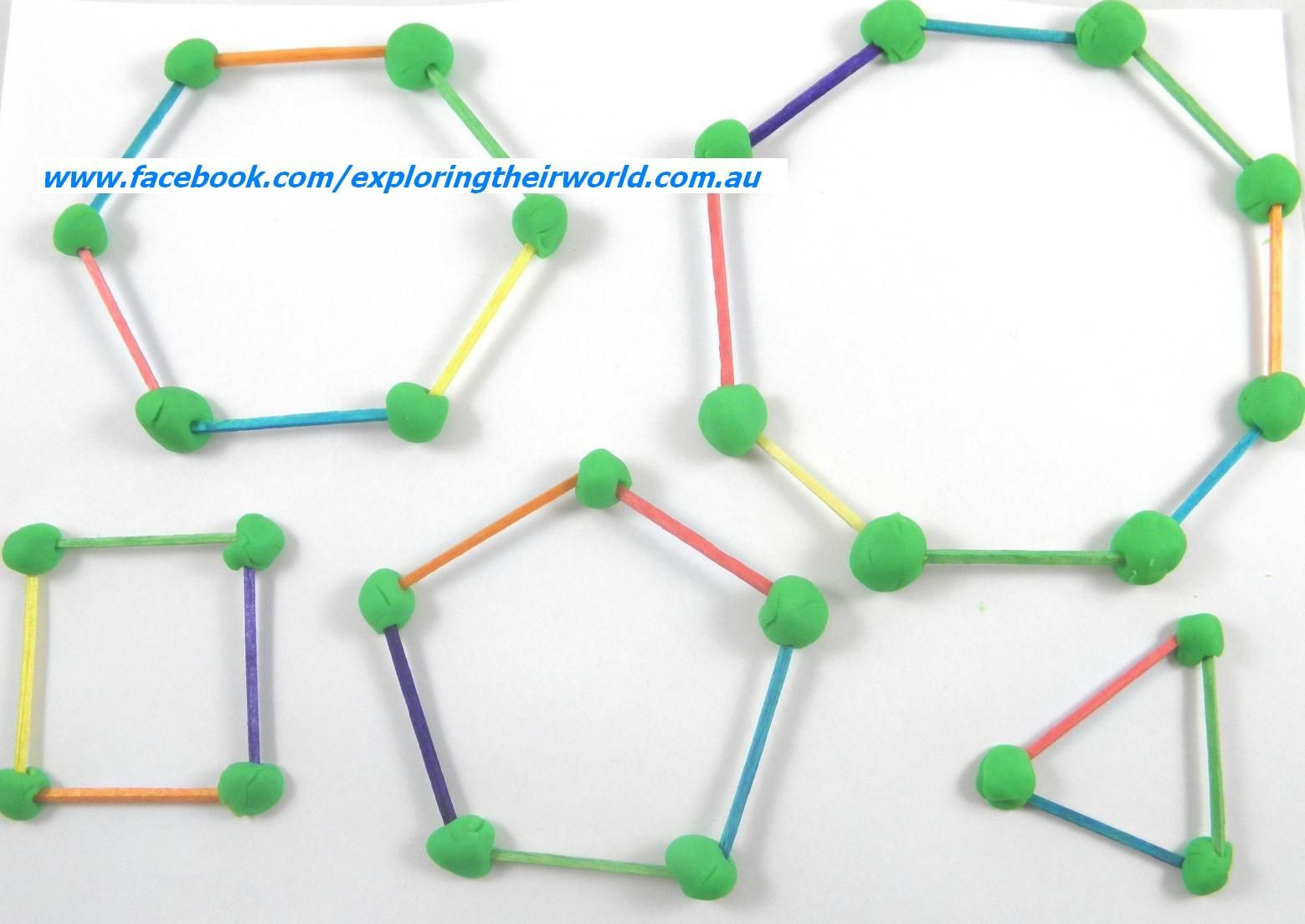 Get The Kids Learning About 2d Polygons With Matchsticks