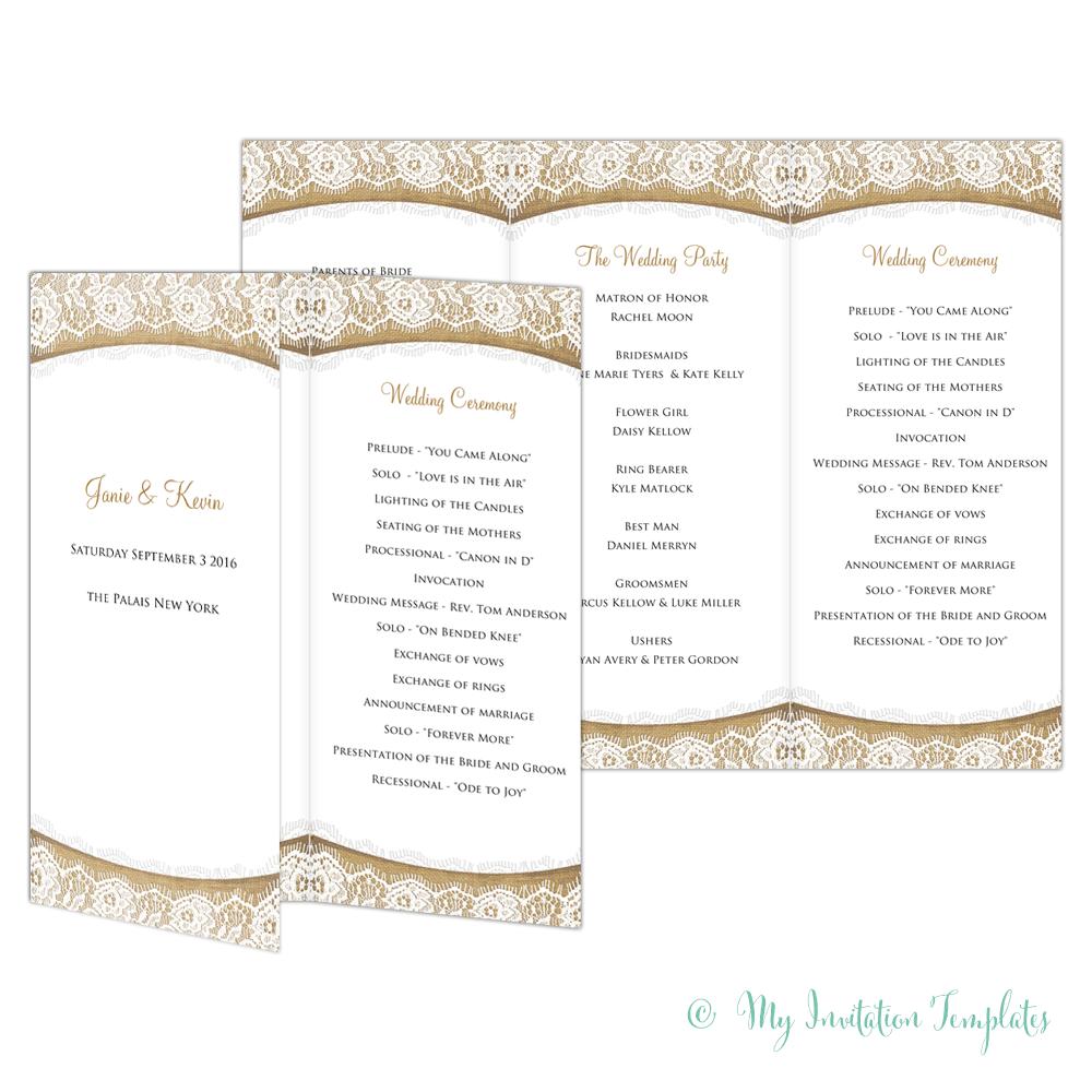trifold wedding program template - Yelom.digitalsite.co