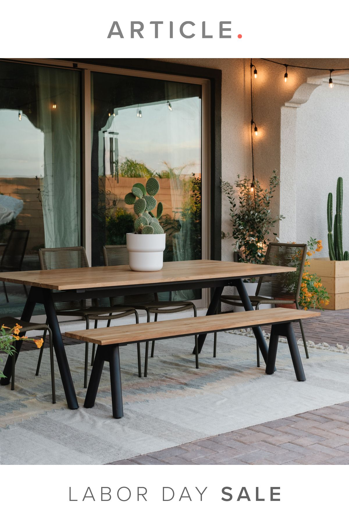 Labor Day Sale Linden Teak Dining Table Set Home Decor Near Me Outdoor Dining Spaces Modern Outdoor Dining Table