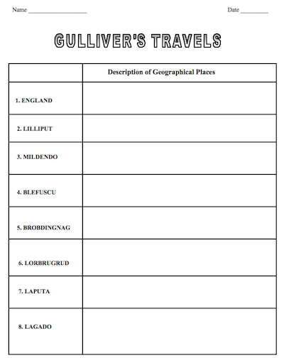 Gullivers Travels Guided Reading