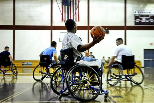 cool Wounded warriors practice for Warrior Games