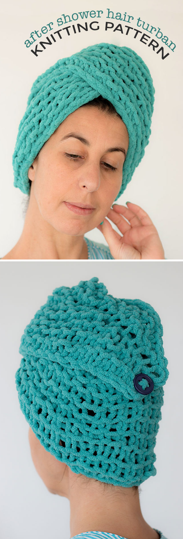 Free Knitting Pattern for After Shower Hair Turban - This easy head ...