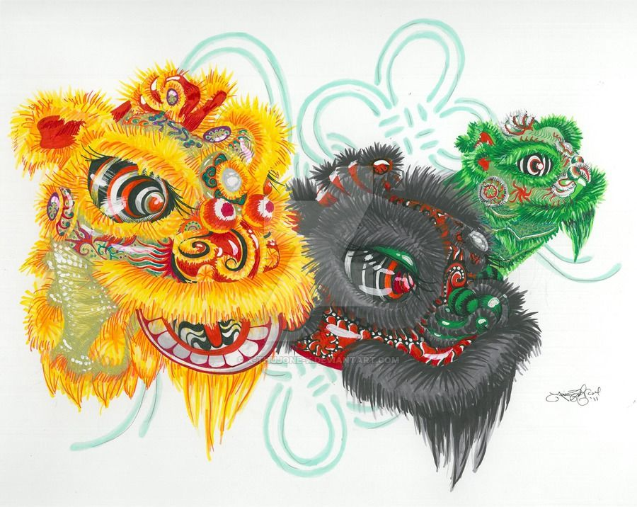Pin By Catherine Wernecke On Tattoo Lion Dance Chinese