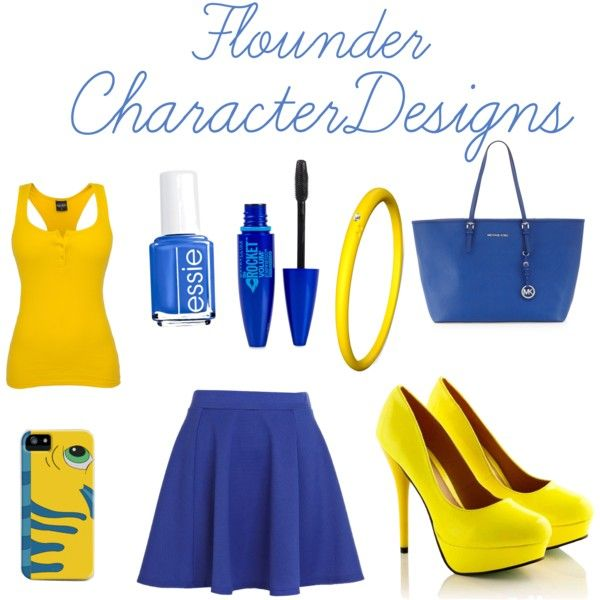 """Flounder"" by brookehovanec on Polyvore"