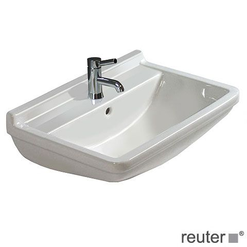 REUTER Shop Recommends: Duravit Starck 3 Washbasin White, With 1 Tap Hole,  With Overflow 0300500000 ✓ With Best Price Guarantee.