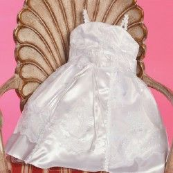 Angels Garment White Dress Size 3M Baby Girl A Line Marabou Baptism