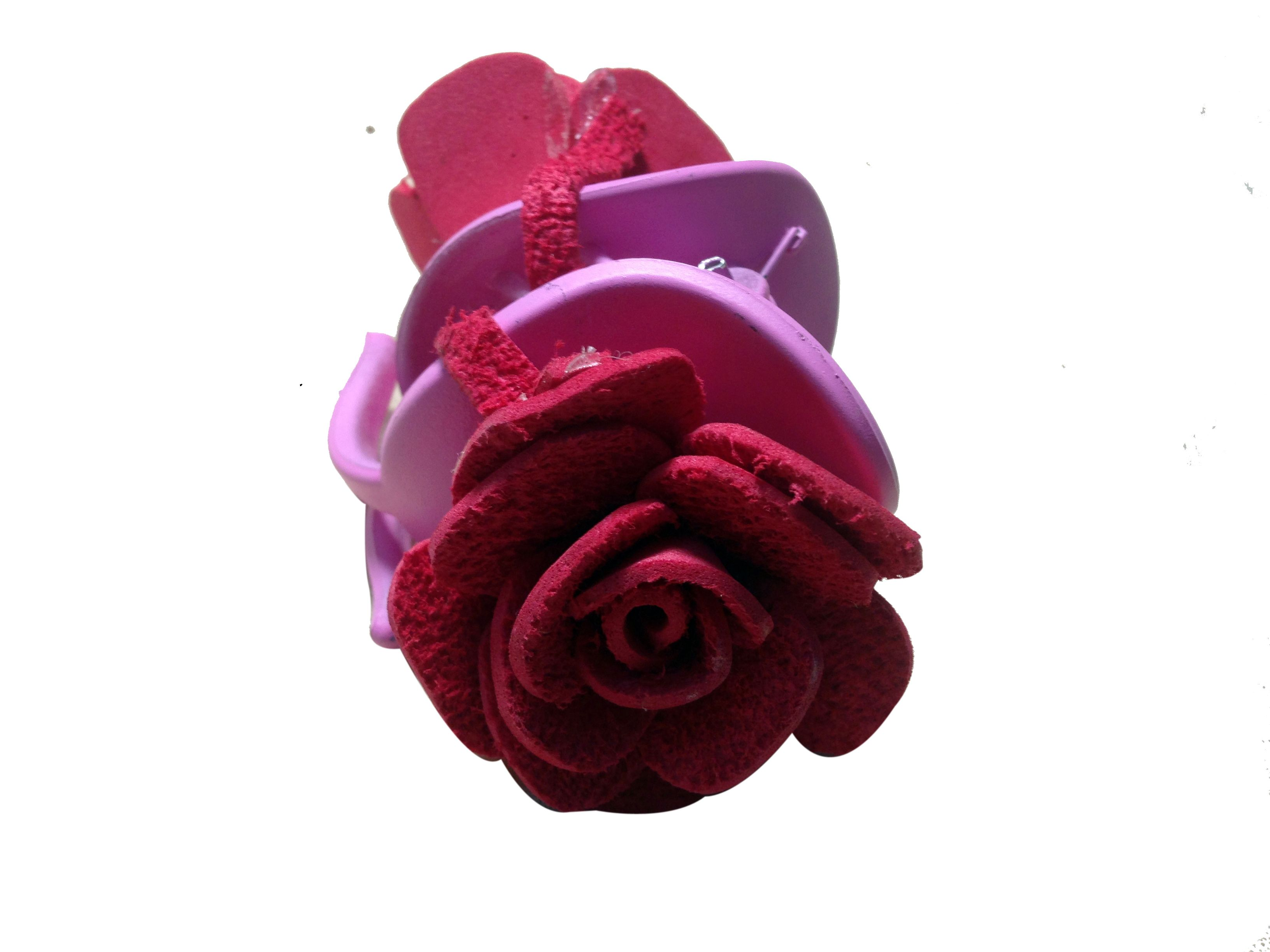 Red color flower clutch pins (two flowers), made of imported rubber ...