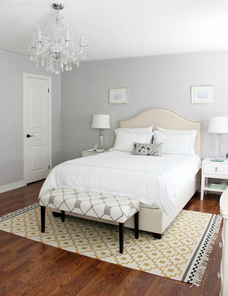Wandgestaltung Schlafzimmer Hellgrau Zimmer Streichen Ideen