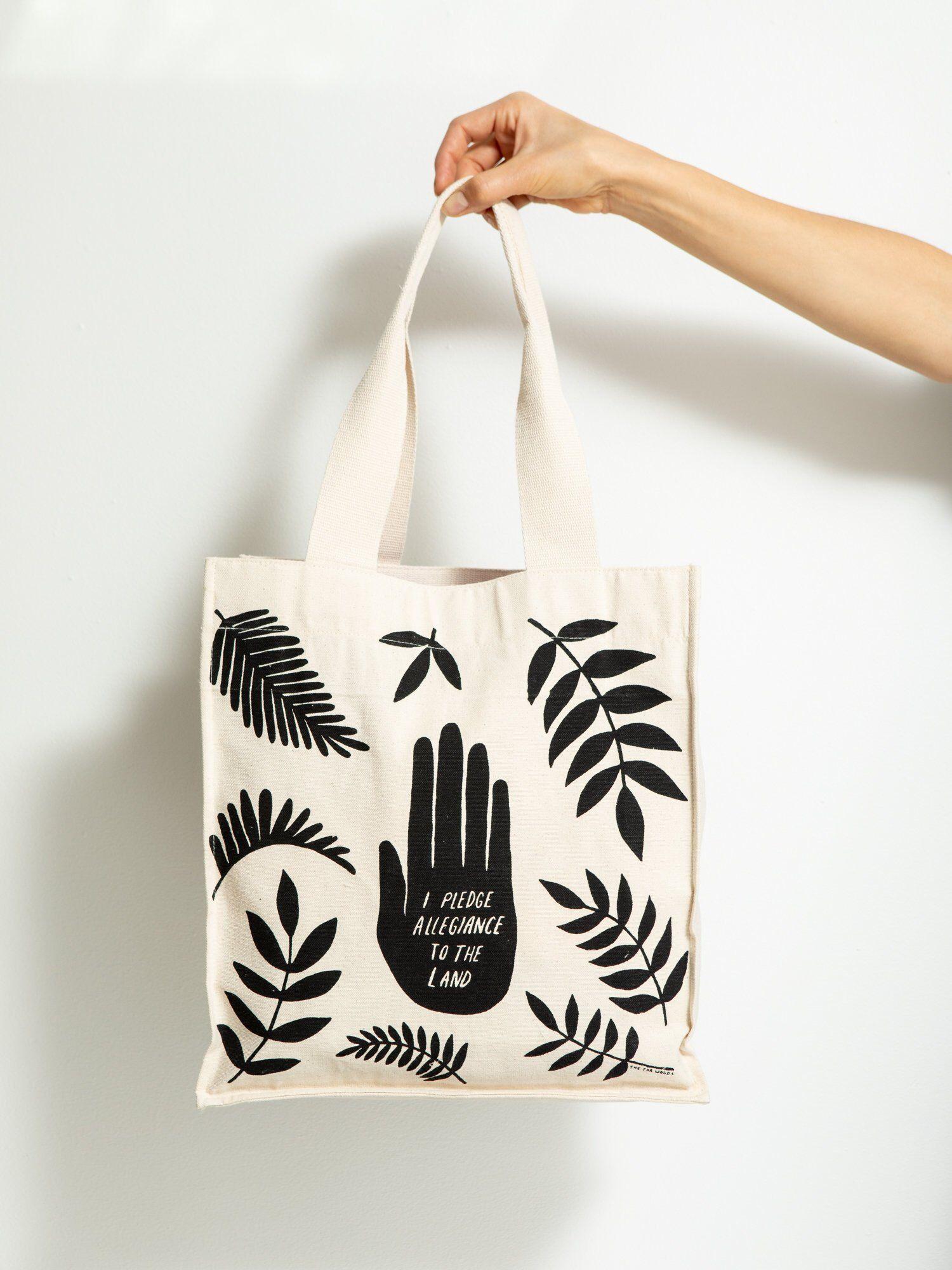 Organic Cotton Tote Bag Canvas Market Bag Reusable Tote