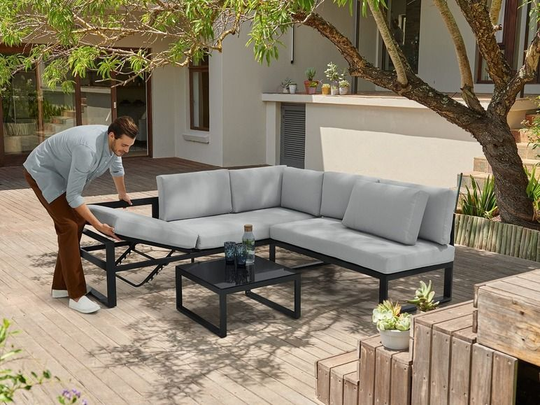 Florabest Aluminium Loungeset Online Kopen Lidl Jardins Terrasse