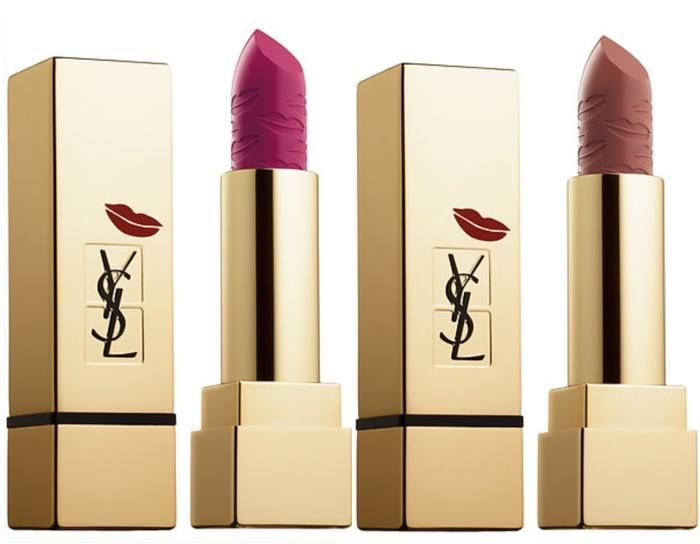 YSL Kiss and Love Holiday 2015 Collection - Rouge Pur Couture Kiss & Love – New – $36.00 for 0.13oz (N19 Le Fuchsia – magenta purple / N70 Le Nu – basic nude)