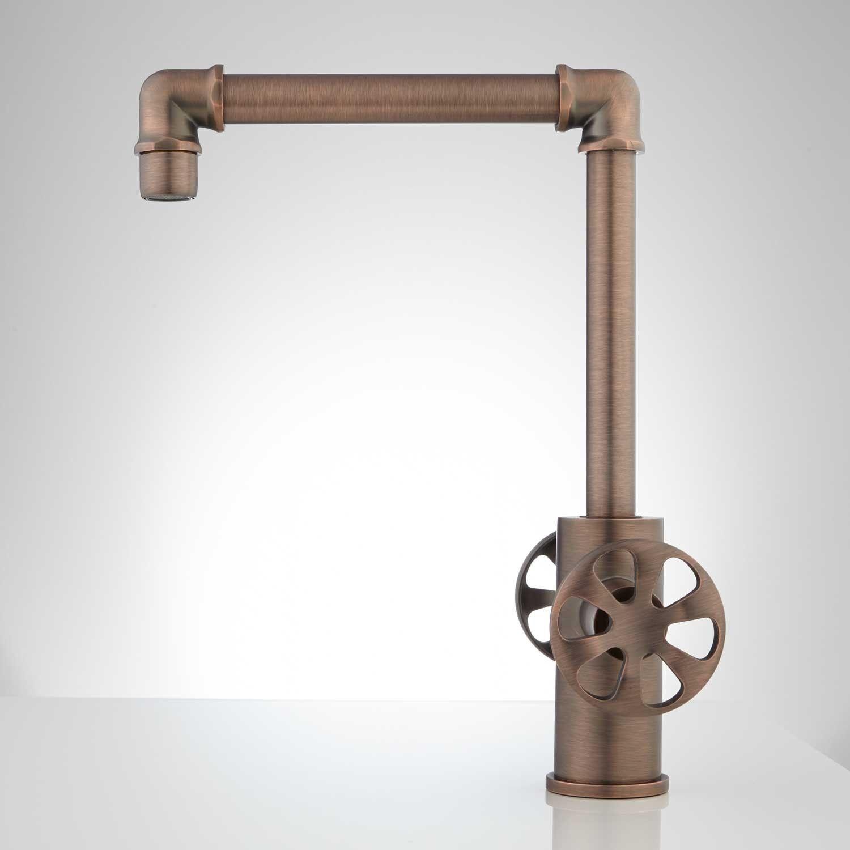 Edison Single Hole Dual-Handle Brass Bathroom Faucet with Pop-Up ...