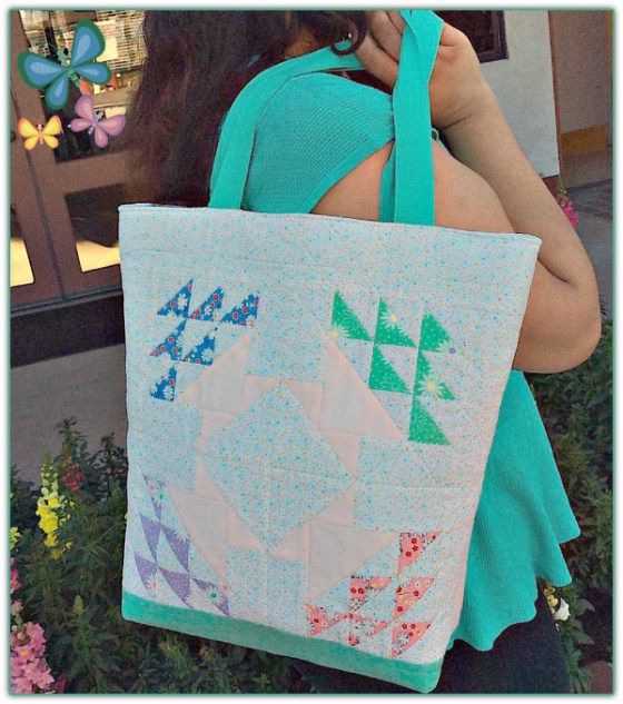 Spring Baskets Patchwork Tote Bag Sewing Tutorial