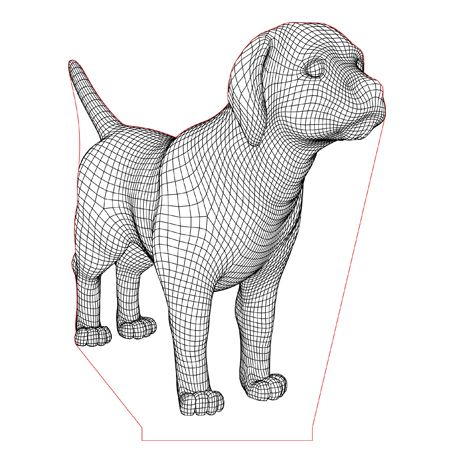 Labrador Puppy Dog 3d Illusion Lamp Vector File For Laser And Cnc 3bee Studio 3d Illusion Lamp 3d Illusions Labrador Puppy