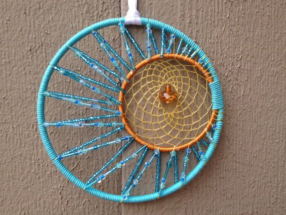 Large Sun and Moon Beaded Dream Catcher by leimk on Etsy, $45.00