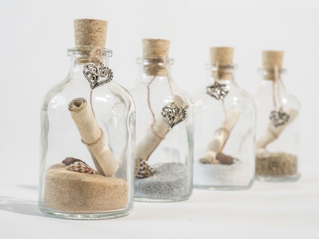 Messsage in a bottle invitation. Aloha design Perfect for beach ...