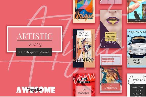 Download Artistic Instagram Stories Pack Free Download | Instagram ...