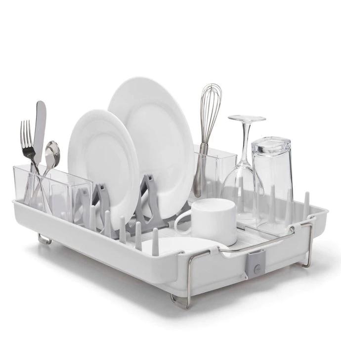 Oxo Good Grips Foldaway Dish Rack With Images Dish Racks