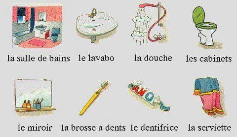 Vocabulaire la salle de bains le mobilier les - Ustensiles salle de bain ...