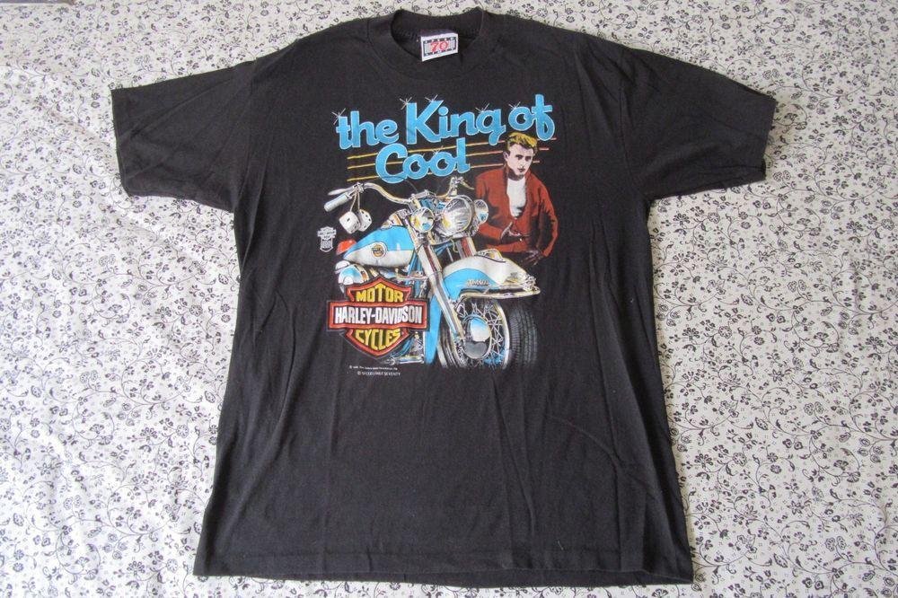 Vintage 1986 Harley Davidson Jamesdean The King Of Cool Tshirt Xl Harleydavidson Graphictee Vintage Clothing Men Cool T Shirts Mens Tops