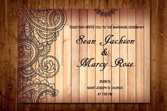 Custom Rustic Wedding Invitation - Perfect Invitation For Your Wedding by trendydesignstudio on Etsy
