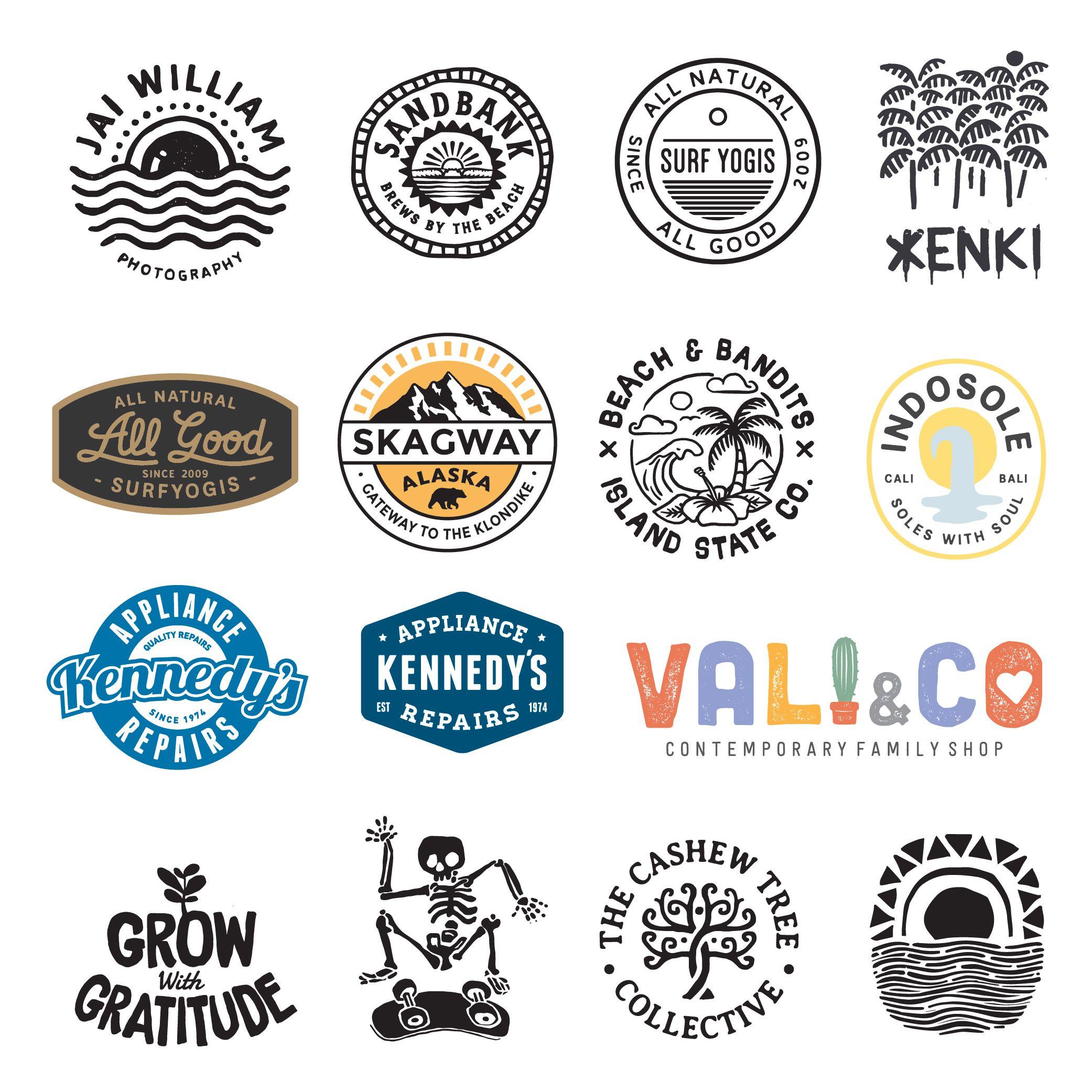 Logos Branding Retro Logos Vintage Logo Design Surf Logo