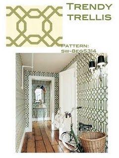 Pretty Patterned Walls- trendy trellis