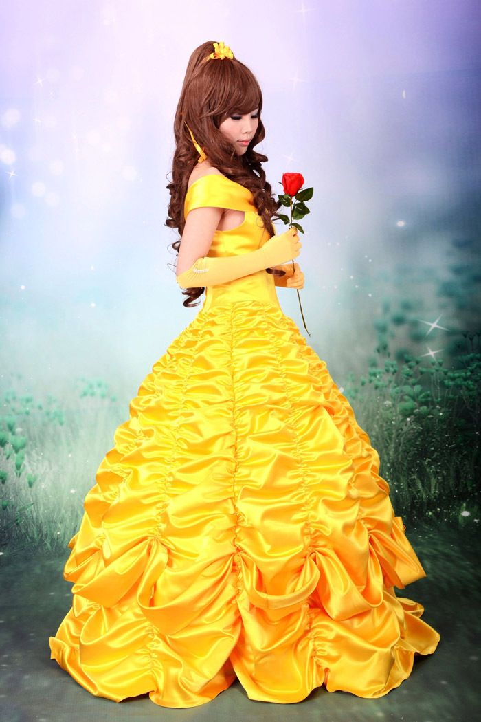 ... from China belle costume Suppliers: adult princess belle costume women  beauty and the beast cosplay party halloween costumes for women yellow Prom  Dress ...