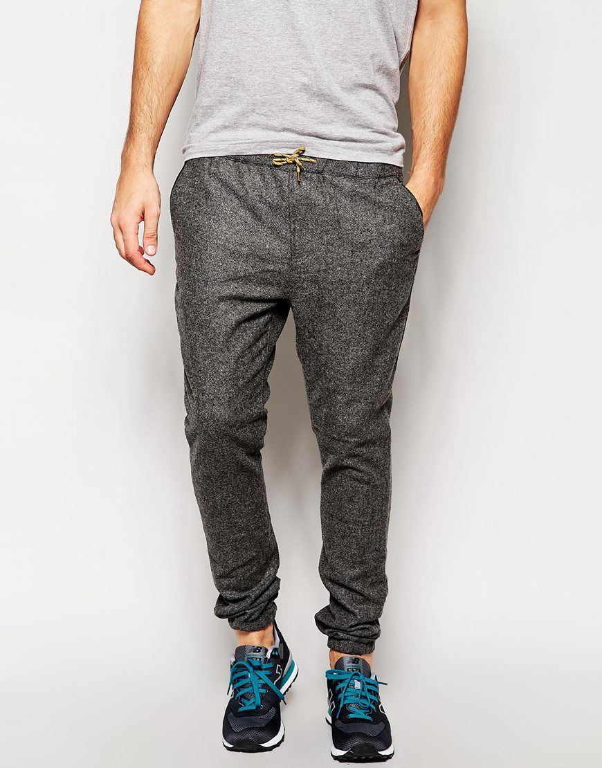 1d74226353a3 Scotch & Soda Wool Joggers in Gray for Men (Grey) | Lyst ...