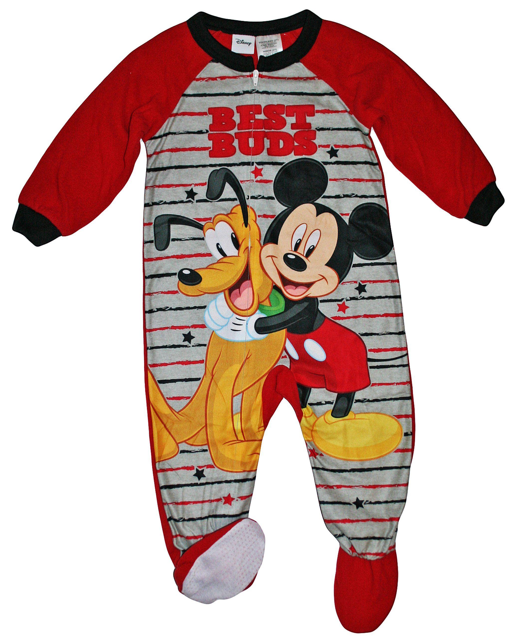 Disney Mickey Mouse & Pluto Blanket Sleeper Pajama Awesome
