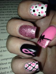 Love These But Want All Mine Like Thumb Nail And Ring As Is T Cancer Awareness Design By Keri