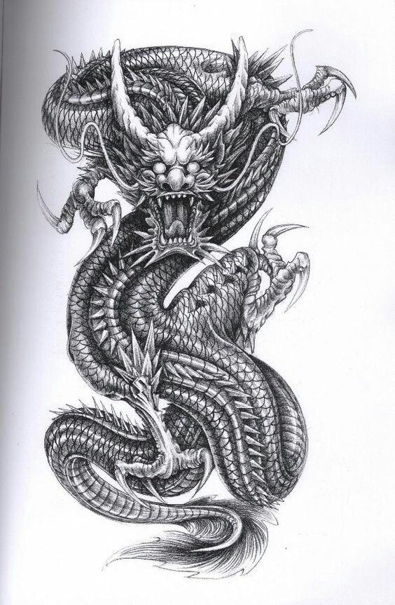 dragon body back drachentattoos drachen tattoo. Black Bedroom Furniture Sets. Home Design Ideas