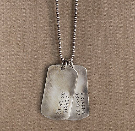 Sterling silver personalized dog tag jewelry for adults sterling silver personalized dog tag jewelry for adults restoration hardware baby child negle Image collections