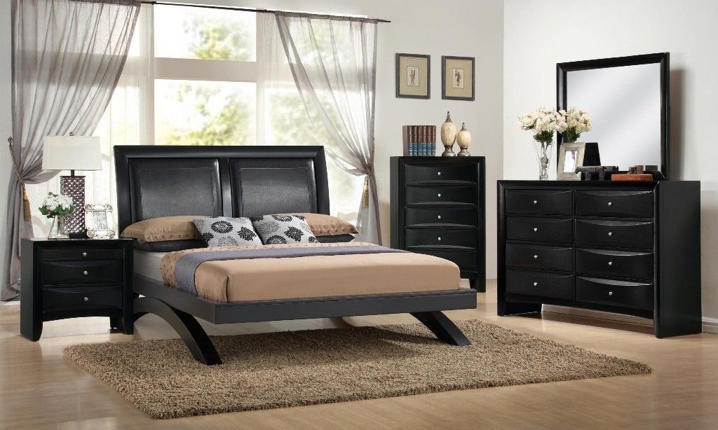 Emily Arch Queen Bed in Black Finish MYCO EM1600Q