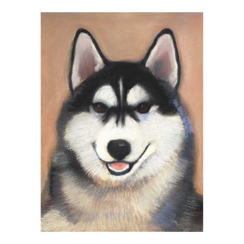 Nikita Siberian Husky Painting Husky White Siberian Husky Red
