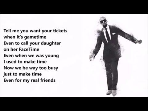 Kanye West Real Friends Ft Ty Dolla Ign Lyrics Video Real Friends Ty Dolla Ign Lyrics